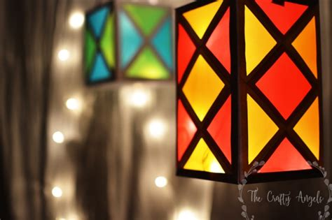 Make Paper Lanterns - diwali lantern tutorial 13