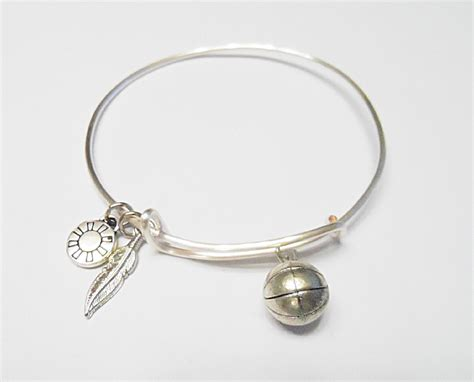 basketball alex and ani inspired charm bracelet