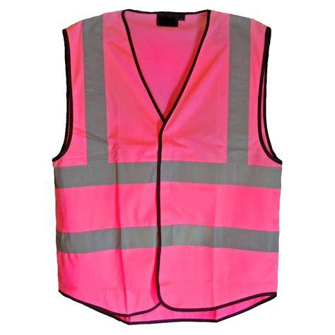 Pink Vest pink hi vis hi viz vest waistcoat fancy dress high