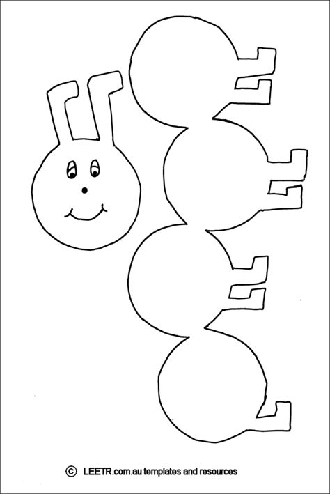caterpillar template ladybugs caterpillars and
