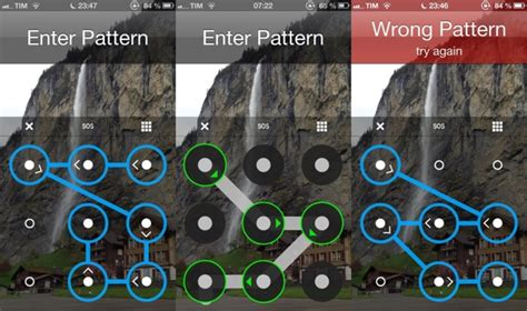 pattern password on iphone unlock your iphone android style with patternunlock