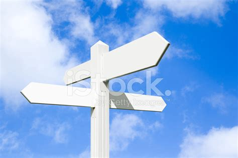 Blank Signpost AT A Crossroads stock photos   FreeImages.com