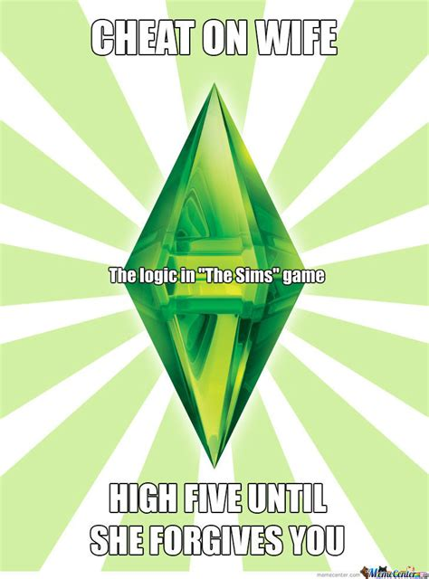 Sims Meme - sims game logic by recyclebin meme center