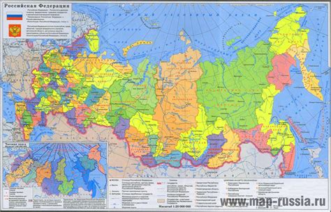 russian map largest most detailed map and flag of russia travel