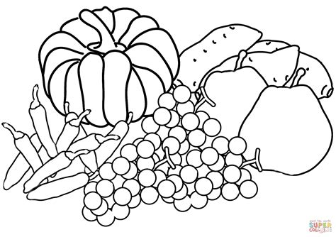 Harvest Coloring Page by Autumn Harvest Coloring Page Free Printable Coloring Pages