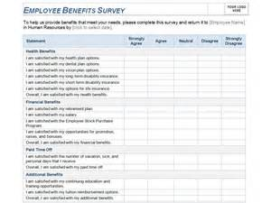 employee benefits package template employee benefits survey template employee benefits