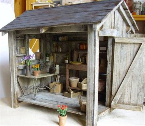 doll house garden mini garden shed for doll house miniatures pinterest gardens house ideas and