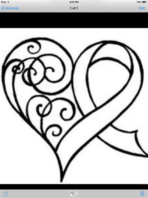 cancer ribbon heart clipart clipartxtras
