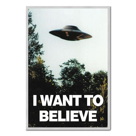 i want to believe x files ufo poster iposters