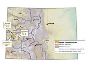 Colorado Blm Map by Blm Colorado National Conservation Areas