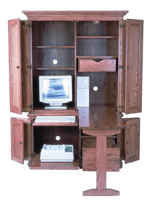 amish 51 quot deluxe computer armoire desk oficina en casa
