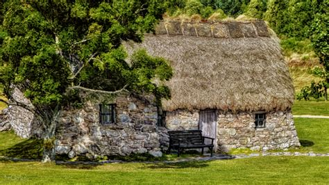 cottage scotland scotland leanach cottage on culloden moor by