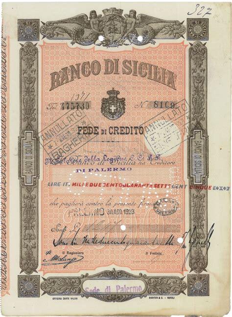 banco d sicilia banco di sicilia sede di palermo scripomuseum