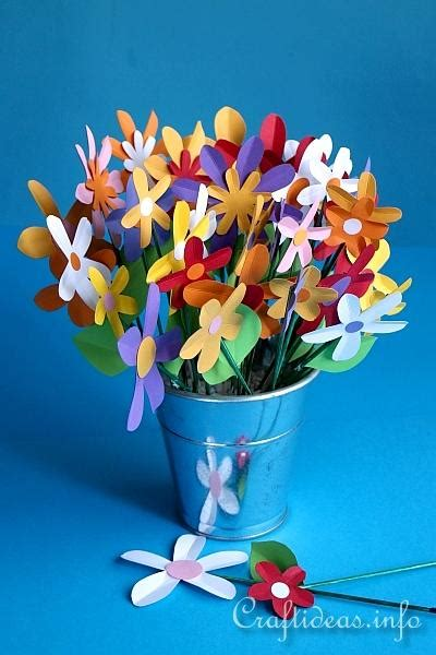 Paper Craft Flowers Bouquet - s day craft for paper flower bouquet