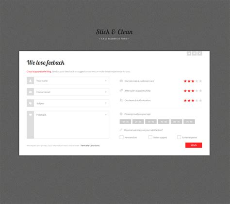 html5 form layout design slick clean html5 and css3 responsive forms by capelle