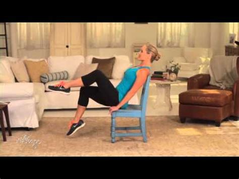 easy chair exercises  tone  abs  belly youtube