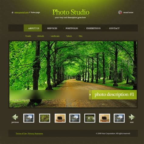ever green html template 5485 art photography