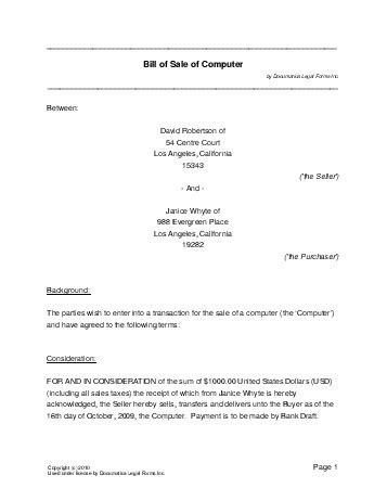 sale agreement template south africa sale agreement template south africa free computer bill of