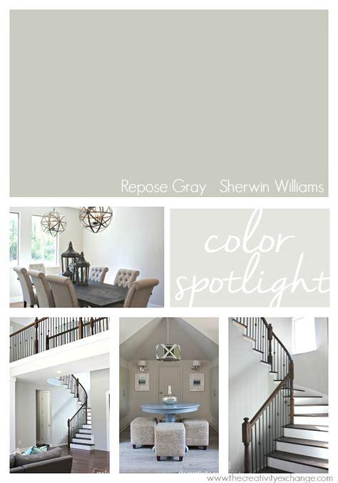 repose gray  sherwin williams color spotlight