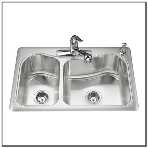 kohler drop in kitchen sinks kohler stainless steel drop in kitchen sinks sink and