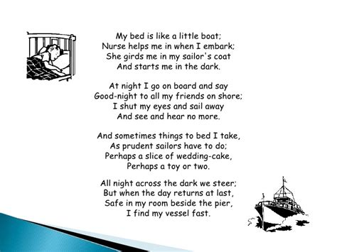 toy boat poem my bed is a boat