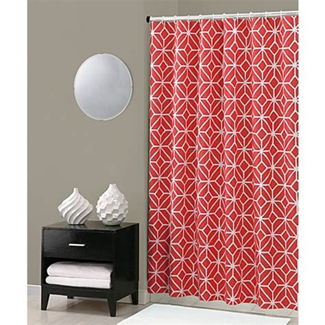 trina turk shower curtain buy trina turk 174 trellis shower curtain in coral from bed