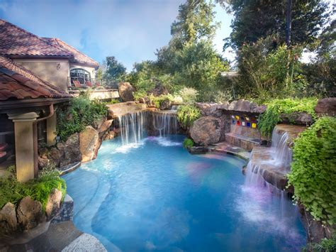 Beautiful Backyard This Pool Is Amazing Www Amazing Backyards With Pools