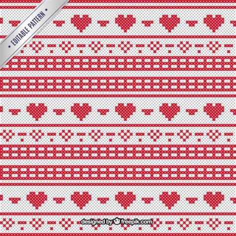 ai pattern cross christmas pattern in cross stitch style vector free download