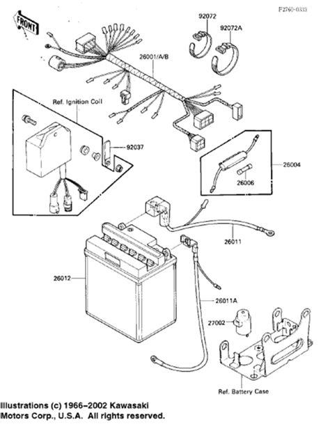 1986 kawasaki bayou 185 wiring diagram 1986 kawasaki bayou