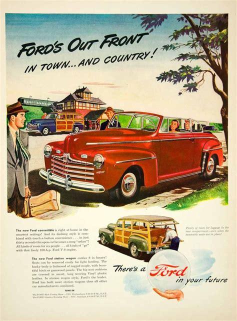 car ads 2017 ford 2017 1946 ad ford station wagon classic car