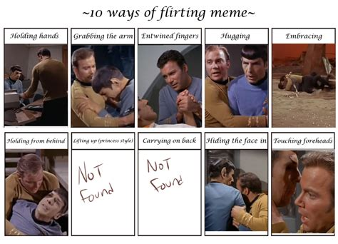 Heavy Flirting And The Season by Spirk Tos Flirt Meme By Simplykaren On Deviantart