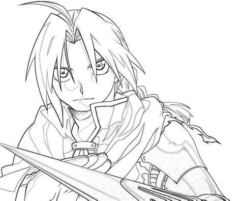 edward fullmetal alchemist coloring pages coloring pages