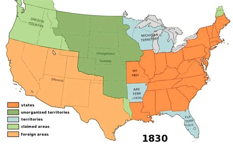 map of the united states in 1830 us territory 1830 american history maps us territory