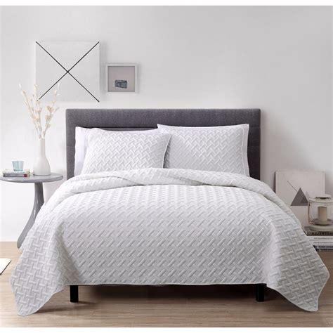King Size Quilt And Shams New King Size Bed White 3pc Quilt Coverlet