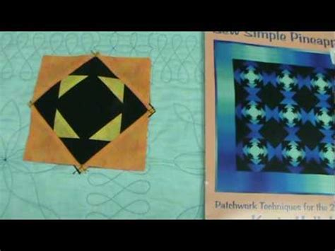 youtube pineapple quilt pattern sew simple pineapples youtube