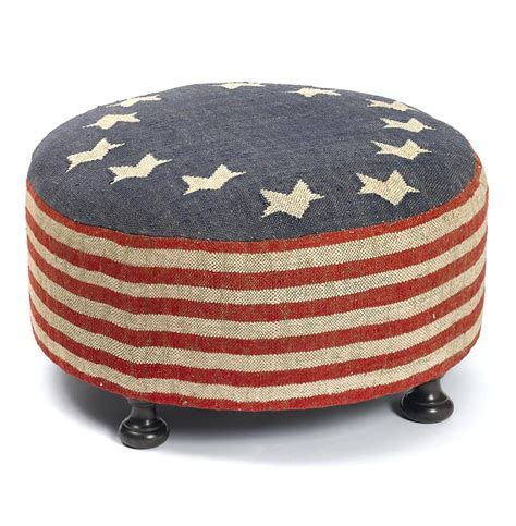 flag ottoman betsy ross recycled kilim american flag round cocktail