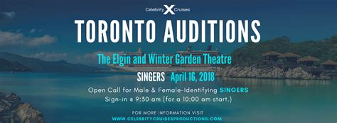 celebrity singers auditions audition toronto open call singers celebrity cruises