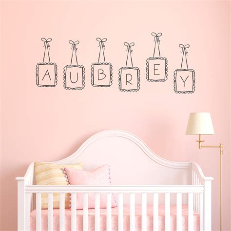 letter wall stickers custom name wall decals personalized baby nursery name vinyl wall decal monogram