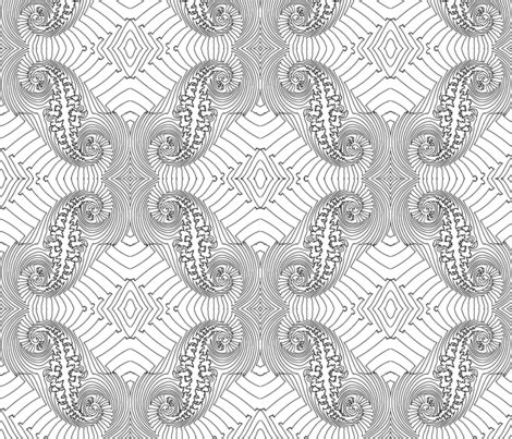coloring book fabric fractal for coloring book fabric anneostroff spoonflower