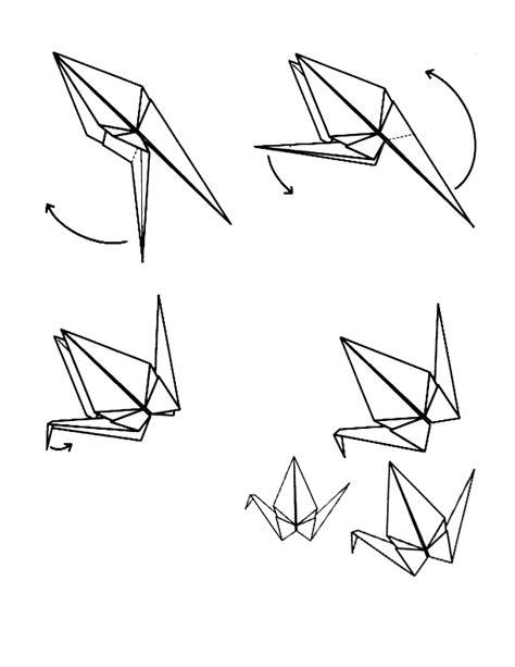 Origami Crane With Legs - 1000 origami cranes