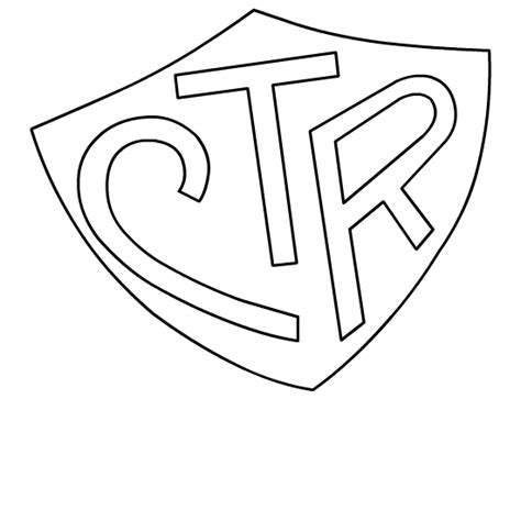 ctr coloring page ctr shield lds clipart clipart suggest