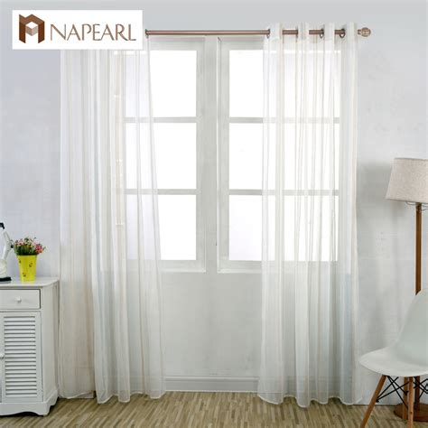 short door curtains striped linen white tulle curtains white window yarn