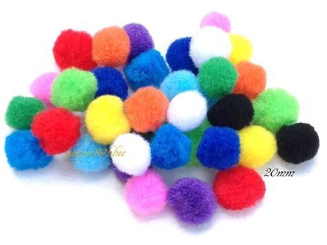 Pom Mini 3nozel 3 pom poms mini craft various mix colours sizes 6mm 8mm 10mm or 20mm uk seller ebay