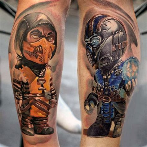 mortal kombat tattoos 100 tattoos for gamer ink designs