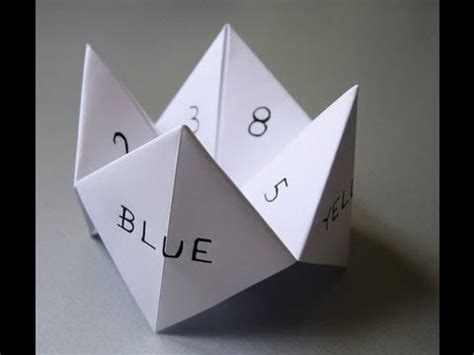 How Do You Make A Paper Chatterbox - how to make a paper fortune teller