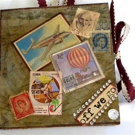 Handmade Travel Journal - handmade travel journal mixed media flickr photo