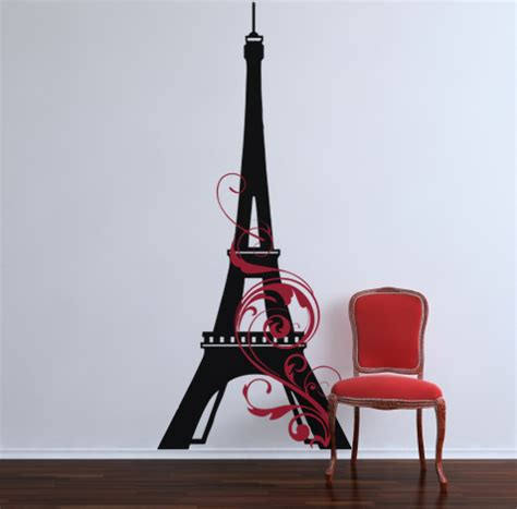 wall stickers eiffel tower eiffel tower swirl