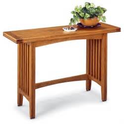 mission style sofa table mission style convertible sofa table 97940 living room