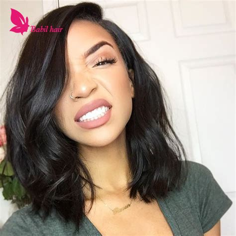 bobs with remy bodyw aves virgin human hair wavy bob wig lace front glueless remy