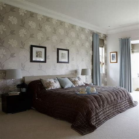 Bedrooms With Wallpaper And Feature Walls Silk Interiors Wallpaper Design For Bedroom